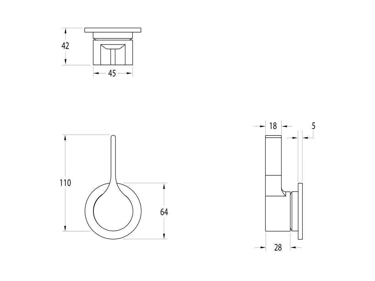 Milli Oria Shower/Bath Wall Mixer