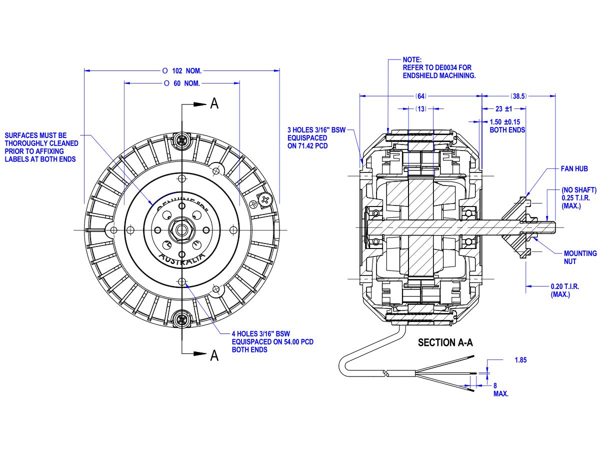 50D501-81A Hub Mount Fan Motor 13W