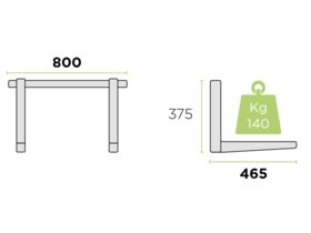Rodigas Air Conditioner Wall Bracket Stainless Steel 140Kg 465mm