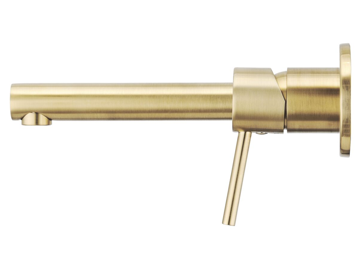 Mizu Drift MK2 Wall Bath Mixer Tap Set 200mm Brushed Gold