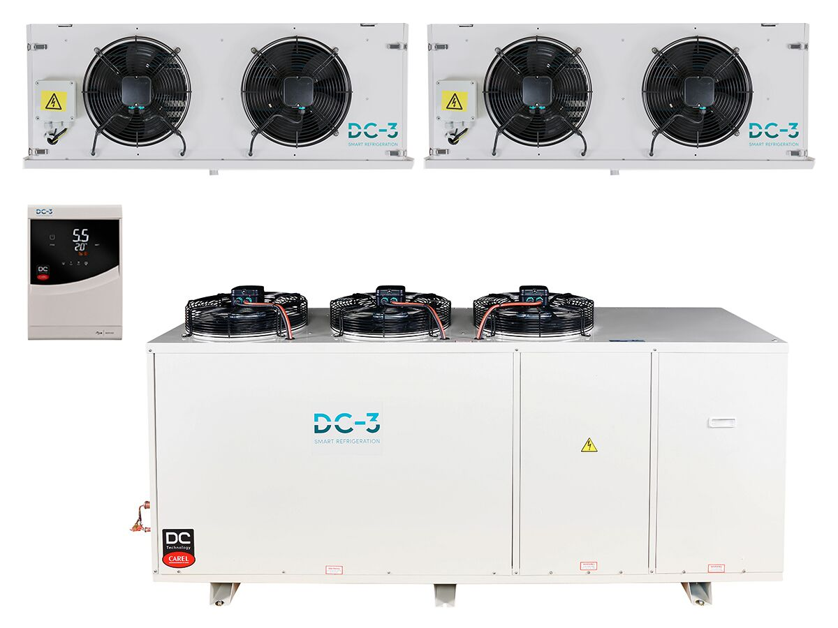 DC-3 Cold Room Kit 21.4KW High Humidity Dual Evap