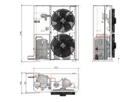 Tecumseh Compac Condensing Unit R404A PAC4553Z 3 Phase