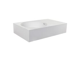 Neo 700 Solid Surface Wall Basin Left Hand Bowl 0 Taphole White