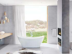Cupid Freestanding Bath 1700mm White