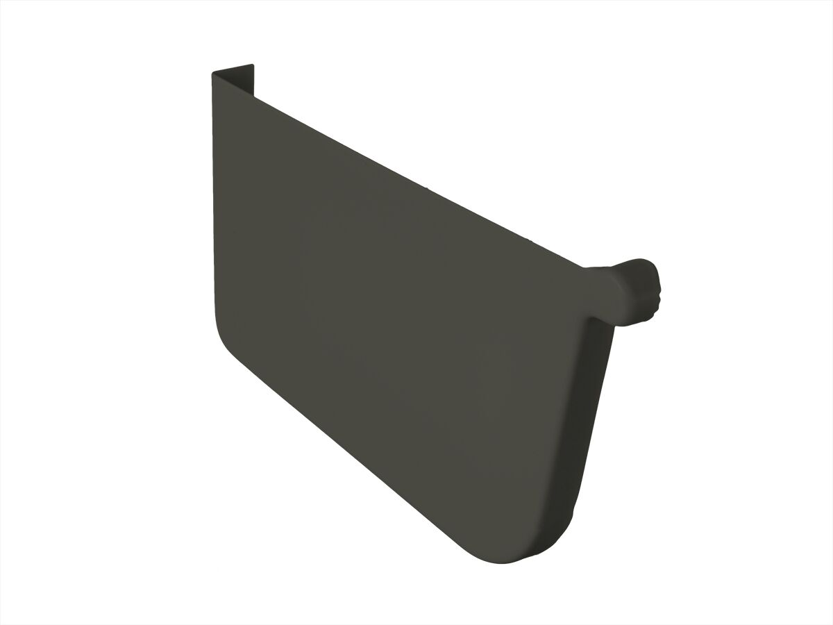 Quad Stop End Plate 115mm Left Hand Woodland Grey
