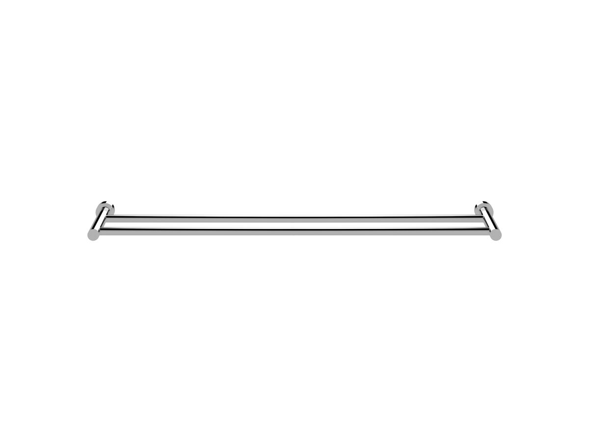 Scala Double Towel Rail 900mm Chrome