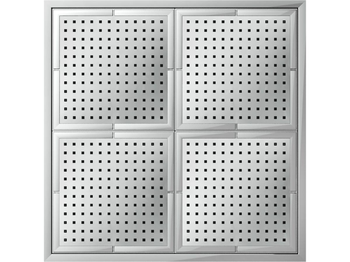 Nobili Plus Quad Ceiling Shower Chrome (2 Star)