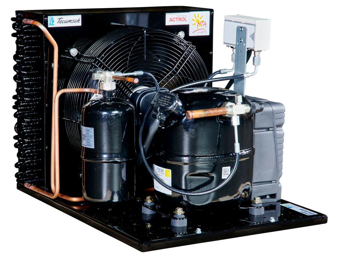 Tecumseh AJ2 HTA Condensing Unit 1HP R134A MHBP TAJT4511YHR-TZ-3 with Pressure Control