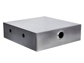Backflow Stainless Steel Surface Mount Double Cabinet