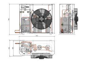 Tecumseh Compac Condensing Unit R404A PAC2513Z 3 Phase
