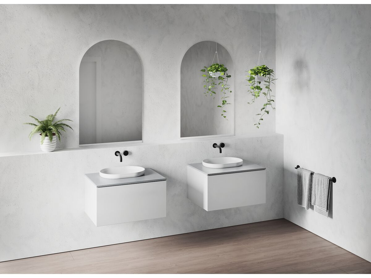 Venice 750mm Wall Hung Vanity Unit Timber with Timber Top
