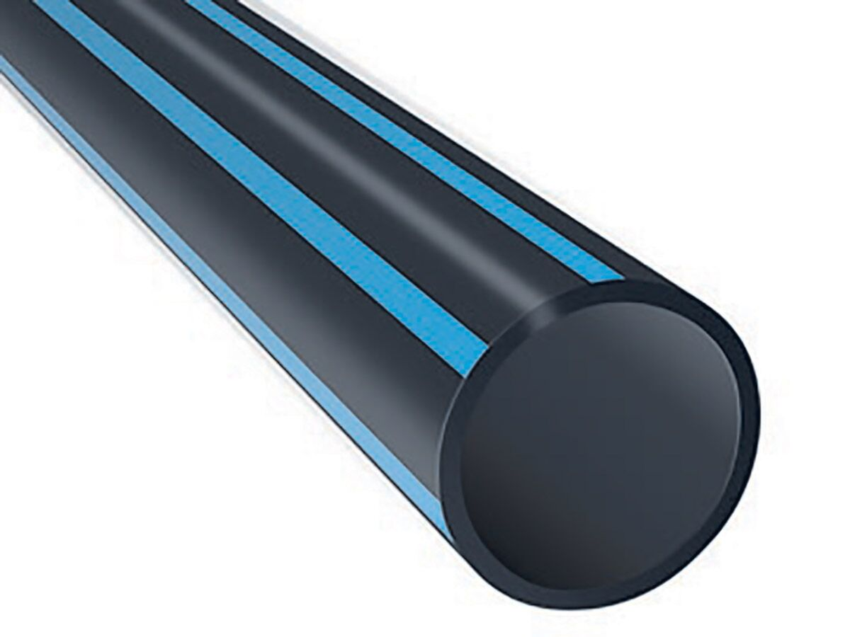 PE Pipe Blue Stripe PE100