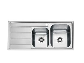 Posh Solus MK3 1 3/4 Bowl Inset Sink, 1 Taphole, Right Hand Bowl Stainless Steel