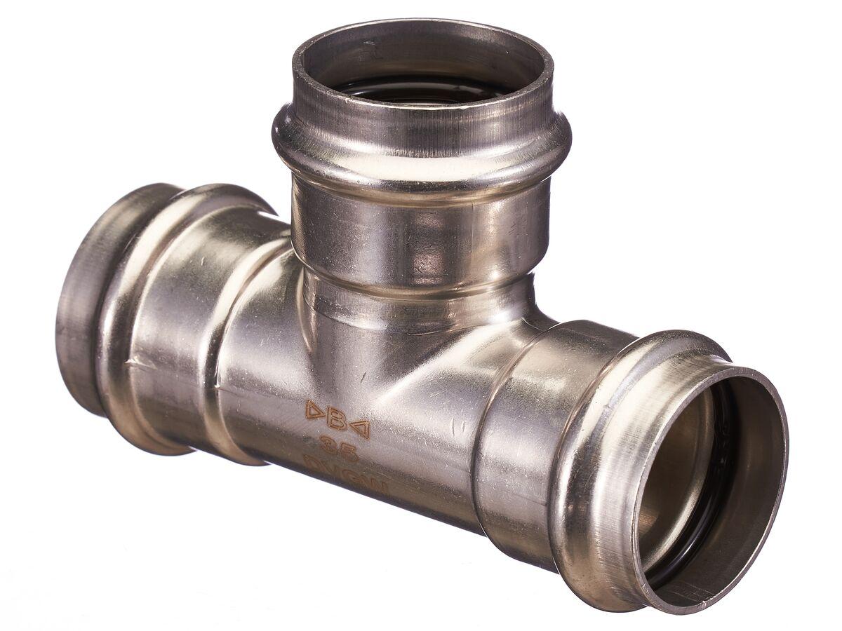 >B< Press Stainless Steel Equal Tee 35mm