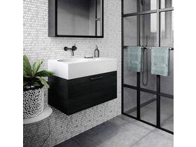 Neo Slimline Wall Hung Vanity Unit 700mm Black Wenge