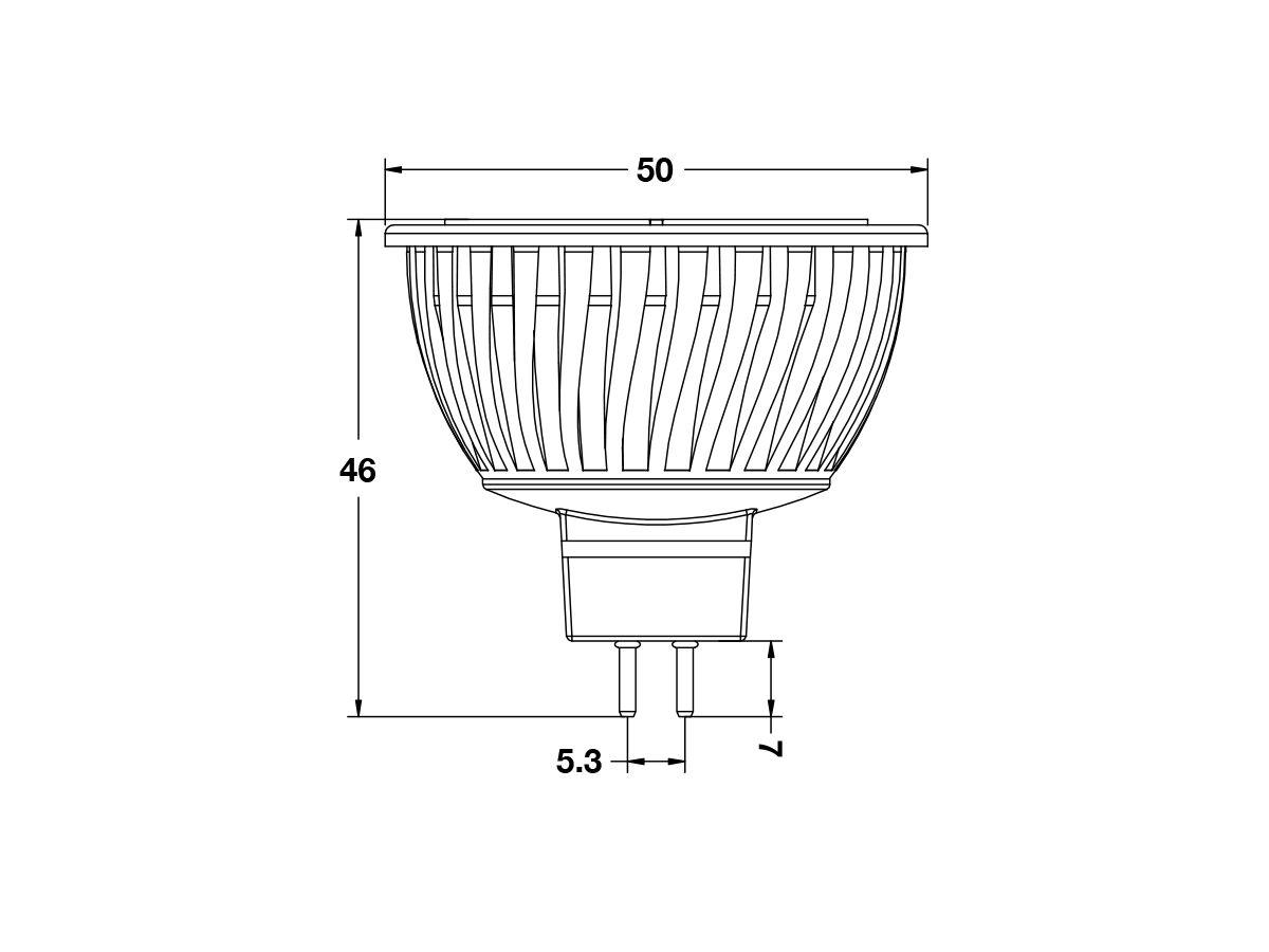 Led Bulb AGL-250mm - 30 x 38 12/24V 250 L/M