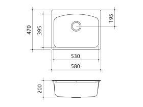 Clark Edgeline MKII Flushline Laundry Trough 42 Litre 1 Taphole Right Hand Stainless Steel