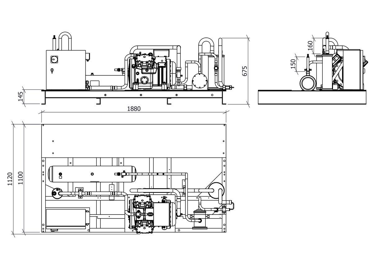 Tecumseh Semi Hermetic Receiver Unit SHR4615ZHR