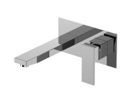 Mizu Bloc MK2 Wall Basin / Bath Mixer Set Chrome