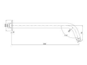 Mizu Drift Wall Straight Shower Arm Only