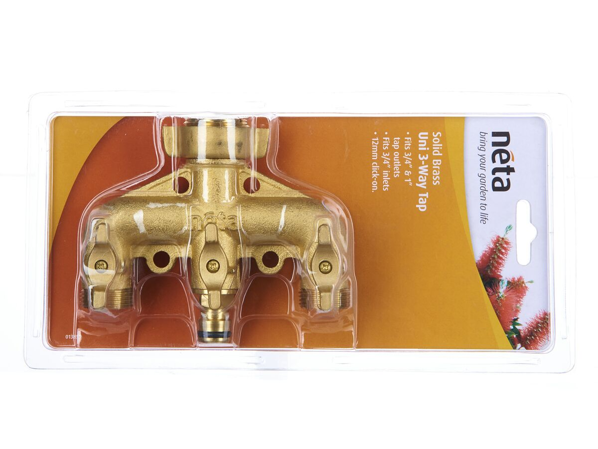 Neta Brass 3 Way Tap Outlet - 1 Click On