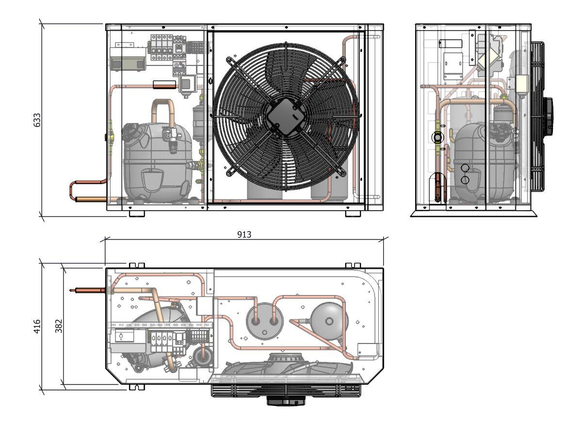 Tecumseh Compac Condensing Unit R134a PACS4476Y 1 Phase