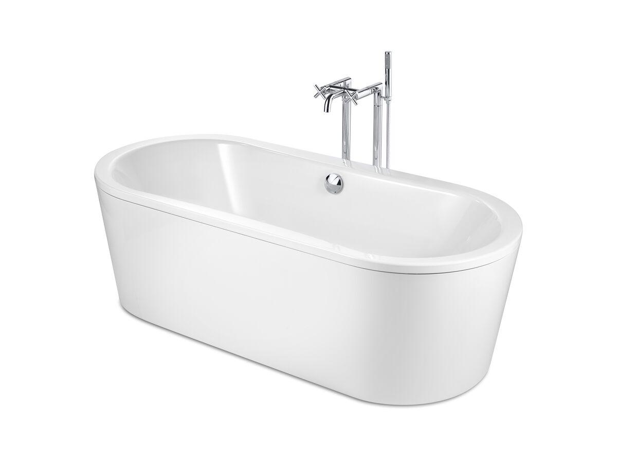Roca Duo Plus Oval Freestanding Bath White