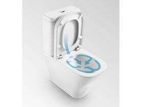 The Gap Rimless Close Coupled Back to Wall Bottom Inlet Toilet Suite Soft Close Quick Release Seat White (4 Star)