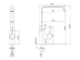 Mizu Stream Sink Mixer (5 Star)