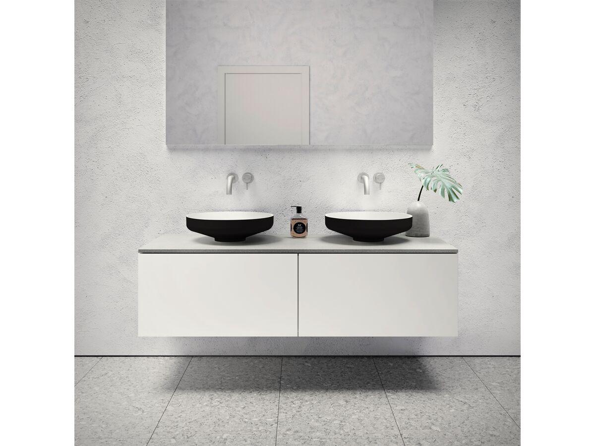 Venice 450 Counter Basin Solid Surface Softskin Black
