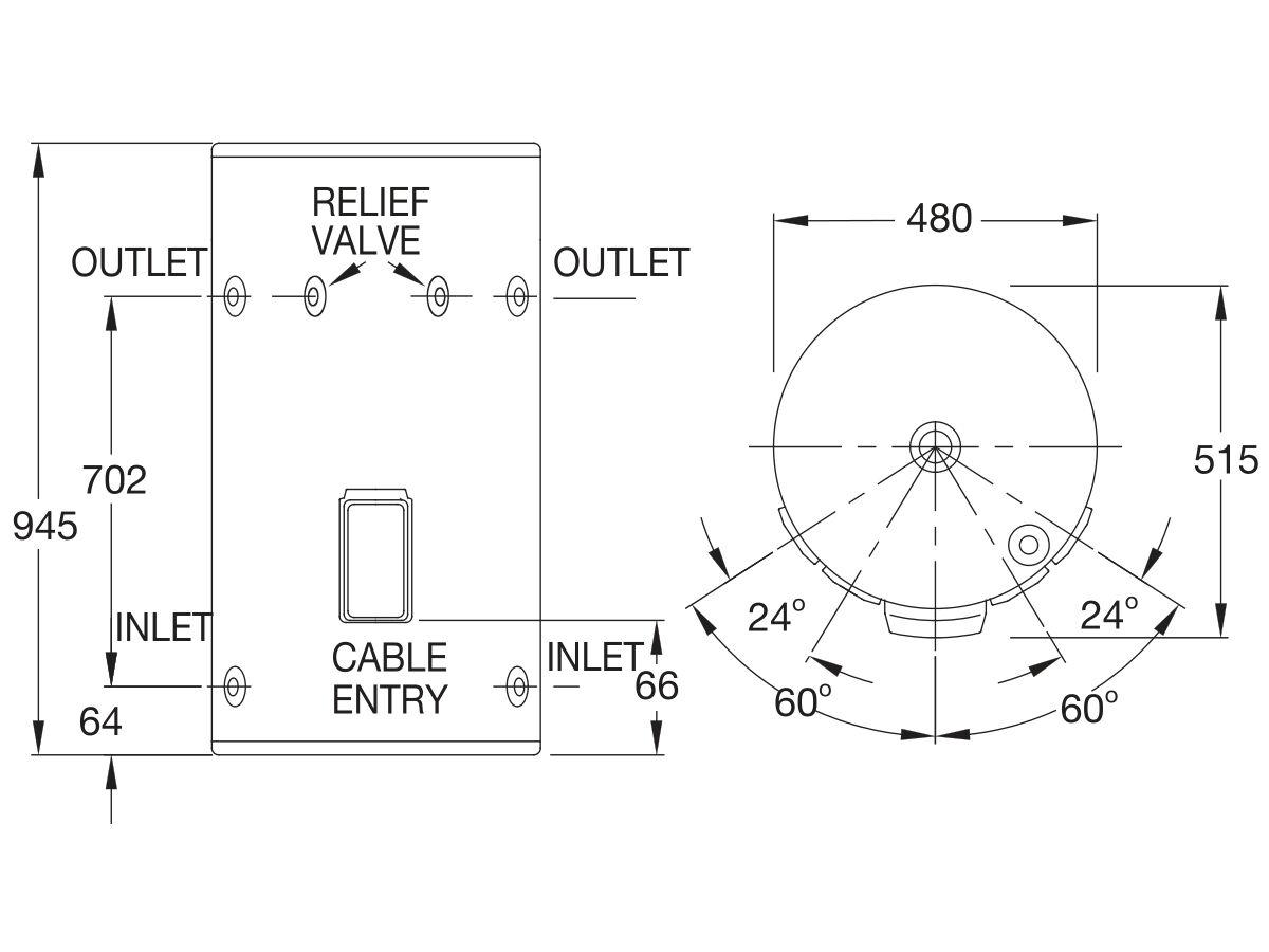 Rheem 80L Single Element Electric Hot Water System