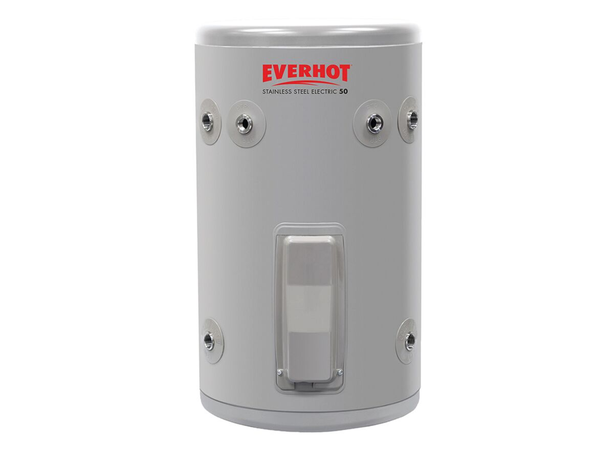 Everhot Stainless Steel Electric Hot Water Unit Single Element 50Ltr 3.6Kw