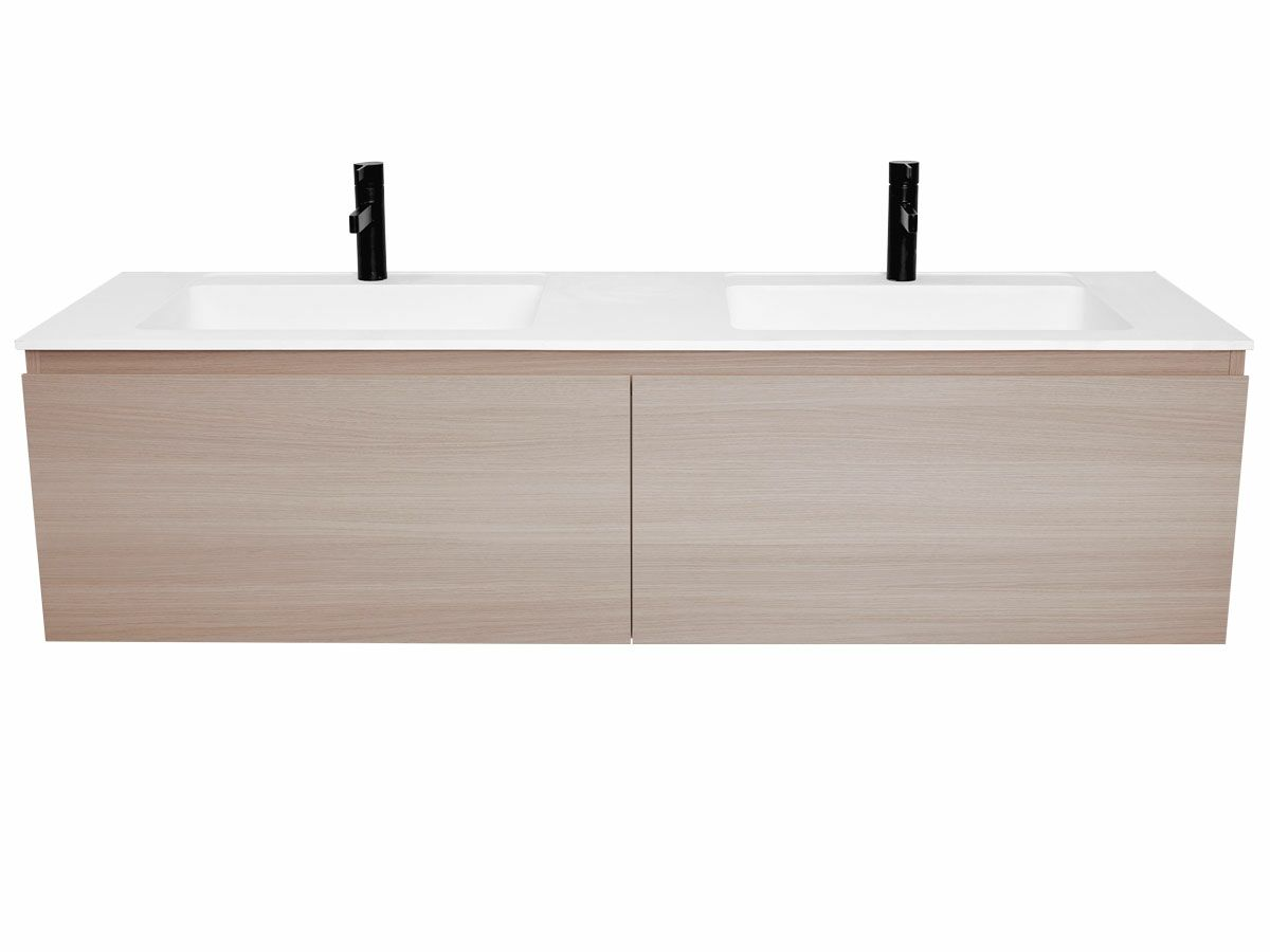 Tasca Wall Hung Vanity Unit 2 Drawer Double Bowl 1500mm