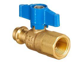 "B-Press Ball Valve Water T-Handle Copper DN15 x Female BSP 1/2"""""