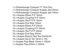 Auspex Battery Starter Kit & Fittings