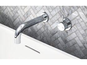 Scala Wall Bath Spout Curved 32 x 200mm Chrome
