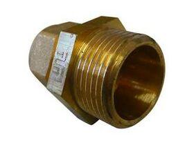 BRASS GAS COMP MALE COUPLING 20X15 BSP