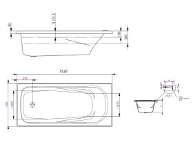 Posh Solus MKII Bath 1520 x 755mm White
