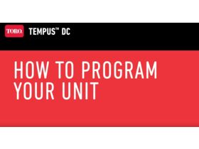 How to Program your unit