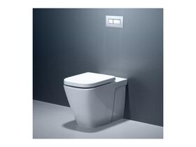 Cube Invisi II Wall Faced Toilet Suite White (4 Star)