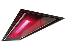 Kado Aspect Flush Mount Glass Panel Heater Black