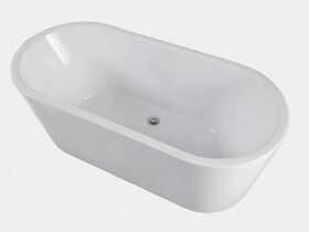 Posh Solus Freestanding Bath 1500 x 700 x 560mm White