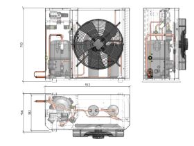 Tecumseh Compac Condensing Unit R134a PAC4528Y 3 Phase