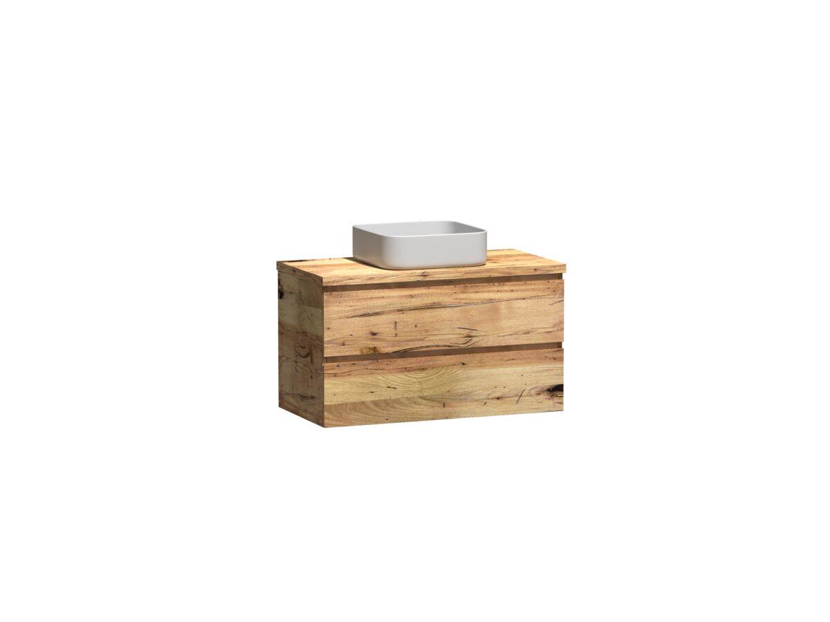 Kado Arc Timber Twin Drawer 900 Vanity Timber 32mm Top