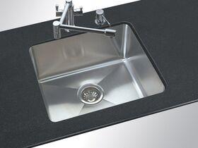 AFA Cubeline Single Bowl Undermount Sink 506mm Stainless Steel