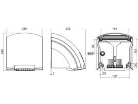 Stiebel Eltron Hand Dryer ABS White