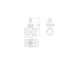 Line Drawing - 150 DIMAX SOC PN16 RS GATE VALVE