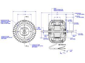Twin Shaft Fan Motor 40W