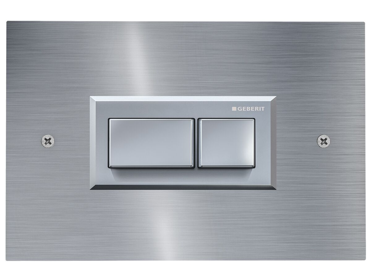 Geberit Sigma Pneumatic Front Access Plate Brushed Stainless Steel