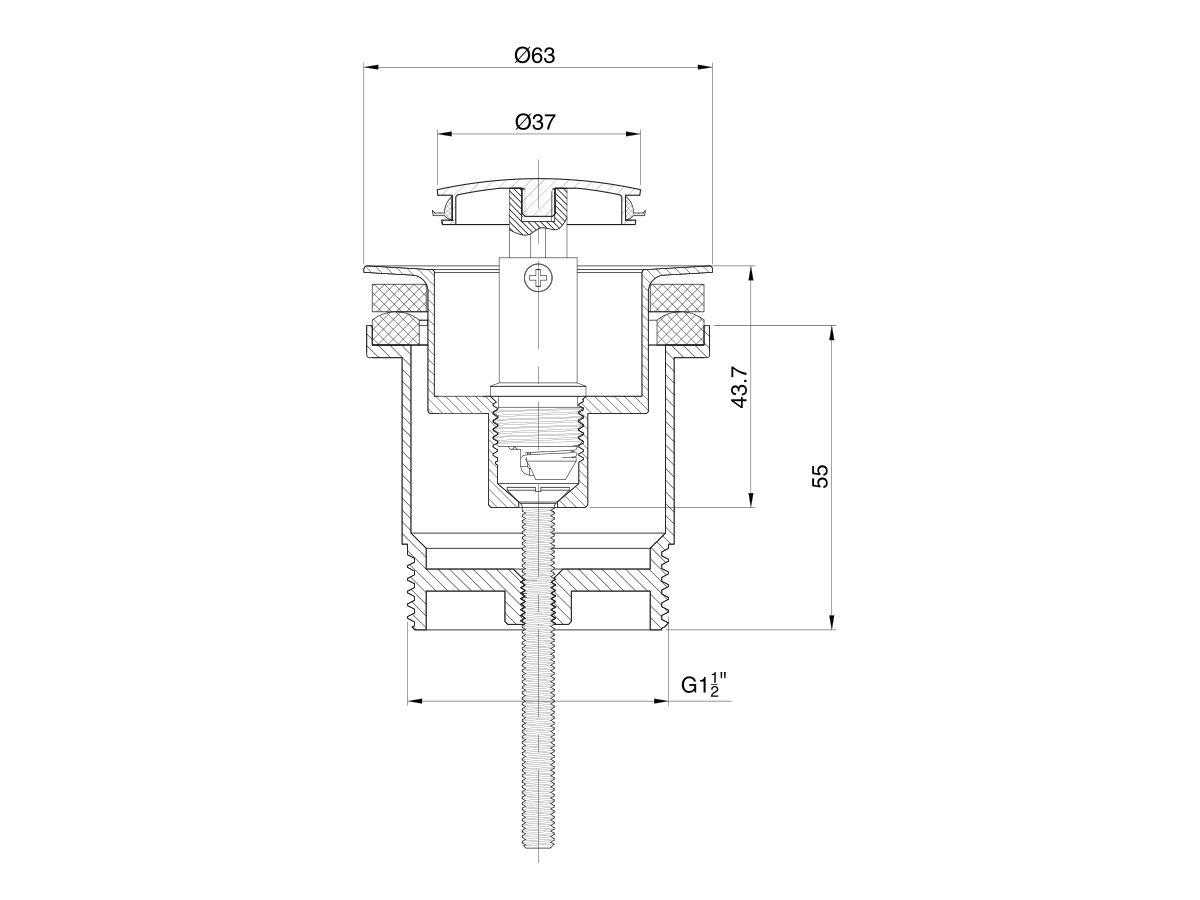 Mizu Drift Universal DN40 Pop Up Plug & Waste